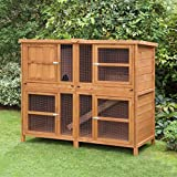 5ft Chartwell Double Guinea Pig Rabbit Hutch | Perfect Outdoor & Indoor Rabbit Hutch for 2 Rabbits Or Guinea Pigs | Made By Hand In Great Britain