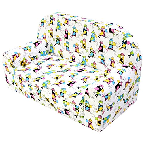 Kindersofa Kindersessel Kindercouch Kindermöbel Klappsessel Bettfunktion Sofa Design 5 NEU
