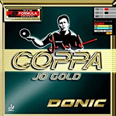 DONIC Coppa Jo Gold Table Tennis Rubber (Black)