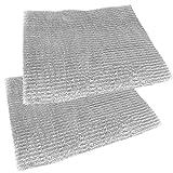 Spares2go universel en aluminium à découper en maille filtre pour toutes les marques du hotte/ventilateur d'extraction d'air Grille d'aération (lot de 2filtres, 57x 47cm)