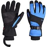Warmiehomy Guantes de esquí de invierno para hombre y mujer y niños, impermeables, resistentes al viento, con pantalla táctil