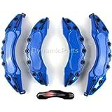 Universal Brake Caliper Covers Set Kit Front & Rear Blue Abs 4pcs - S Line - UK SELLER
