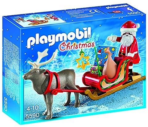Playmobil - 5590 - Jeu De Construction - Père Noel Avec Traineau