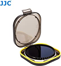 JJC F-NDV58 58mm Variable Neutral Density Filter for Camera Lens Photography, ND2 - ND400 Adjustable ND Filter