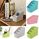 #7: ASkyl High Quality Remote Control Holder Makeup Cosmetic Case Desk Organizer Home Decor Storage Box desk tidying basket set 2