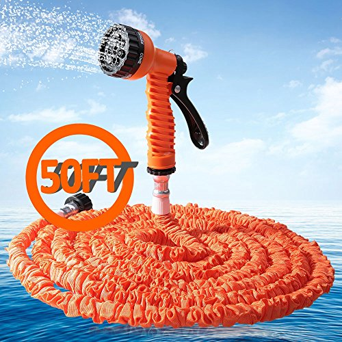 leopard-shop-50ft-expandalble-garden-hose-water-pipe-with-7-modes-spray-gun-orange