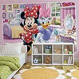 Disney Minnie Mouse - Forwall - Fototapete - Tapete - Fotomural - Mural Wandbild - (1645WM) - XXL - 312cm x 219cm - VLIES (EasyInstall) - 3 Pieces