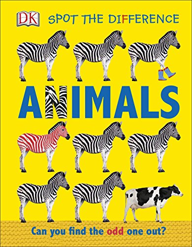 Spot the Difference Animals: Can you find the odd one out? Spot-bücher Baby