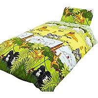 Cheeky Monkey Juego de fundas nórdico/edredón cama individual para niños. (Cama de 90/Multicolor)