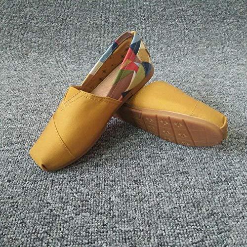 YOPAIYA Fischer Schuhe Klassische Casual Frauen Leinwand Flache Schuhe Frühling Sommer Damen Ultra Leichte Atmungsaktive Wandern Espadrilles Faule Müßiggänger, 39 Army Navy Schuhe