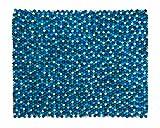 Sajita: rechteckig Gefilzt Balls Indien Teppich Blau Farbe rechteckige Form Designer, Filzkugeln (200cm x 300cm / 6' 6.7'' x 9' 10.1'')
