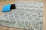 Funky Designer Teppich Mandalas Modern Blau Grün in 4 Größen
