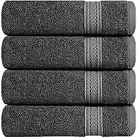 Utopia Towels Cotton Hand Towels, 4 Pack Towels 41 x 71 cm, 700 GSM,Grey