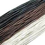 TOAOB 120 Metres 1mm Waxed Cotton Cords for DIY Necklace Bracelet Craft Making