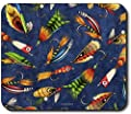 Art Plates? brand Mouse Pad - Fly Fishing Lures by Superior Printing