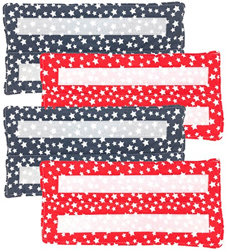 Xanitize Wiederverwendbare, waschbare und umweltfreundliche Pads für Swiffer Wet Jet - Klettbefestigung Red White & Blue Stars (Pads Wet Jet Wiederverwendbare)