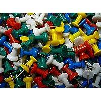 zeuxs 100dibujo colorido plástico chinchetas papelería para tablón de anuncios de corcho