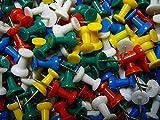 Chinchetas de plástico para panel de corcho, paquetes de 100 unidades, varios colores