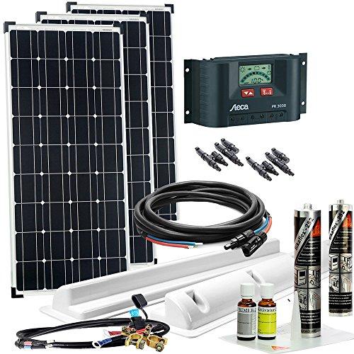 Offgridtec Solaranlage für Wohnwagen 300 Watt / 12 V - Komplett-Set für Wohnmobil, 300W 002715