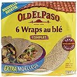 Old El Paso - 6 Wrap au Blé Complet 350 g - Lot de 6