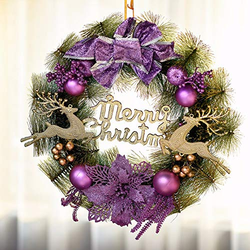 Ghirlande natalizie decorazioni natalizie ghirlande pensili per hotel ghirlande pensili per hotel ghirlande per alberi di natale mall hanging ghirlande decorative ghirlande per finestre, viola
