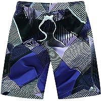 Pantalones de playa de verano de los hombres de verano sueltos de gran tamaño de surf de secado rápido color de la lucha de los hombres de cinco puntos pantalones cortos de los hombres coreanos pantalones de jogging