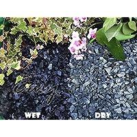 Trucioli di ghiaia pietra di ardesia Deter erbacce da giardino Patio Percorso Plant superficiale–Nero Basalto (10–20mm), 5 kg
