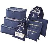 Vicloon Sistema di Cubo di Viaggio, Cubo Borse di stoccaggio, 8 pezzi Abbigliamento Intimo Abbigliamento Calzature Organizzat