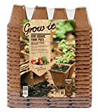 Gardman 6cm Fibre Pots Square Value Pack (Pack of 80)