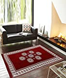 #6: Zesture Bring Home Premium living room cotton carpet/rug / durriers-(mehroon, 7ft x 5 ft)