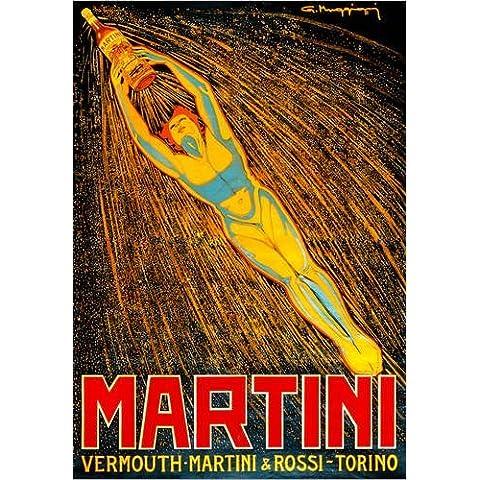 Alu Dibond 80 x 110 cm: Martini Vermouth Martini & Rossi Torino