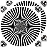 Aufkleber 10cm Sticker Siemensstern Auflösung Graukarte Kamera Objektiv Fokus Test chart (2)