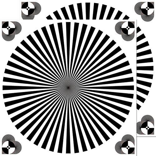 30cm Aufkleber Sticker Siemensstern Auflösung Graukarte Kamera Objektiv Fokus Test chart (2)