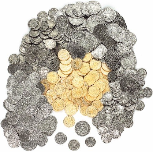 50 x MEDIEVAL REPLICA COINS PENNIES, HALF-GROAT, GROAT AND GOLD QUARTER NOBLE