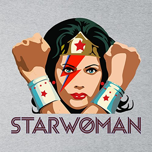 Wonder Woman Starwoman David Bowie Starman Women's Vest Heather Grey