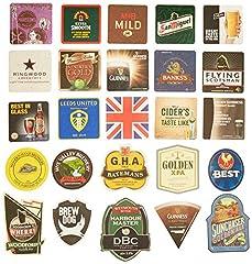 Idea Regalo - Pub paraphenalia tradizionale Beer Mats, Multicolore, confezione da 25
