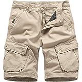 BMEIG Pantalones de Carga para Hombres Retro Ej/ército Pantalones Combates Sueltos M/últiples Bolsillos Negocios Casual Trabajo al Aire Libre Senderismo Negro Marr/ón