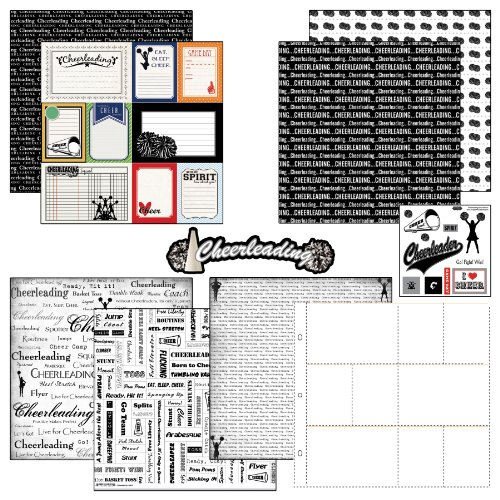 Scrapbook Customs Motivpapier und Aufkleber Scrapbook-Kit Cheerleading Journal