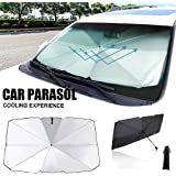 Keeps Vehicle Cool for Ultimate UV//Sun Protection Car Window Sunshades Foldable Auto Sunshades Shade with Storage Bag Tyuodna Car Windshield Sun Shade Umbrella