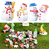KESOTO 6pcs Schneemann Miniatur Figuren Mini Landschaft Weihnachtsdekofigur Weihnachtsfiguren Winterdekoration Set