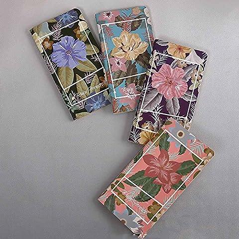 BBIAY 10 Mélange rétro de couleurs Le carnet de poche de la ligne de voiture Blanc Page Notebook 9 * 17.3cm (48 feuilles * 10)