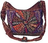 Guru-Shop Schultertasche, Patchwork Hippie Tasche, Goa Tasche, Herren/Damen, Orange, Baumwolle, Size:One Size, 30x30x6 cm, Alternative Umhängetasche, Handtasche aus Stoff