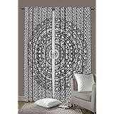 "Indian Elephant Mandala Bedroom Window Curtains, Tapestry Drapes, Window Treatment Panels, Boho Decor Panel Set 80 X 78"" BY GMAC"