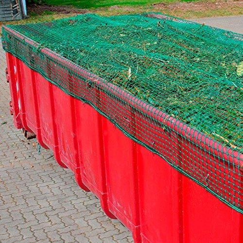Anhängernetz, Containernetz, 3,50 x 7,00 m, DEKRA geprüft, 3 mm, Mw. 45 mm, PP grün