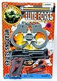Polizei Set Dart Pistole Handschellen Sheriffstern Pfeilpistole Pfeil