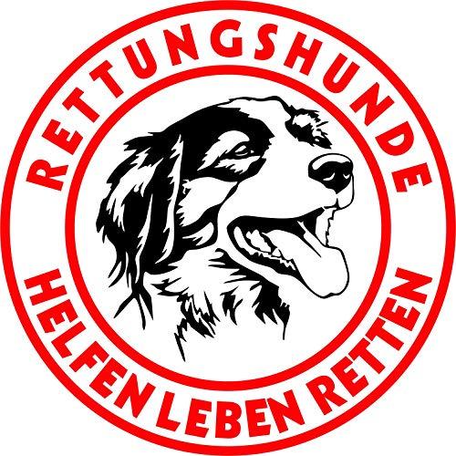 Holashirts Mallorca Kooiker Kooikerhondje Border Collie Aussie Spaniel Rettungshund Auto-Folien-Aufkleber Hundeaufkleber Sticker (Ø180mm) -