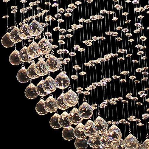 Moderne Kristall Deckenleuchte, Herzform aus Glaskristallen - 4