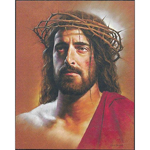 Dicksons Porträt der King, Jesus mit Dornenkrone 8x 10Holz Wandschild Aufschrift