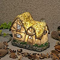 "Garden Glows""The Home of Ember Quillwitch"" Illuminated Fairy Dwelling"