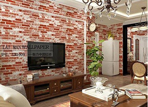 Xzzj Im chinesischen Stil Retro Green Brick Muster PVC-Tapeten Kostüm Shop Thema Restaurant Teehaus Tv Wallpaper Wallpaper, Chinesisch (Kostüme Tv Themen)